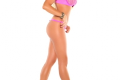 Summer Brielle Big Boobs in Pink Bra with Heels 008
