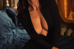 Suzanna Big Boobs Black Sheer Catsuit for Photodromm 002