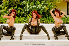 Bianca Beauchamp  Huge Tits Pink and Black Rubber Outfits 011
