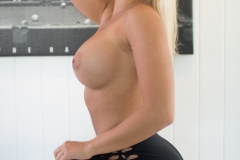 Tahlia Paris Big Boobs in Sexy Black Bra 010