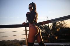 Tahlia Paris Big Breasts White Bikini in the Sunshine 13