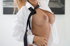 Tahlia Paris Big Tits Shirt and Tie 006