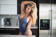 Tahlia Paris Huge Boobs in the Kitchen 001