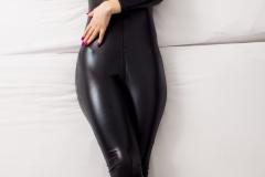 Talia Amanda Huge Tits in Black Latex Catsuit 014