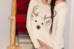 Talia Shepard Big Boobs Bra and Denim Shorts 001