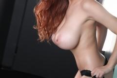 Tessa Fowler Big Tits Black Bra and Panties 031