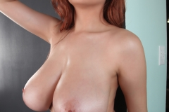 Tessa Fowler Big Tits Black Bra and Panties 040