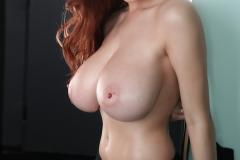 Tessa Fowler Big Tits Black Bra and Panties 052