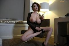 Tessa Fowler Huge Boobs Laced in Corset 003