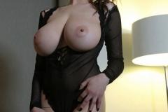 Tessa Fowler Huge Boobs Laced in Corset 005