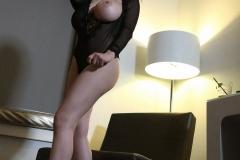 Tessa Fowler Huge Boobs Laced in Corset 008