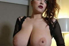 Tessa Fowler Huge Boobs Laced in Corset 016