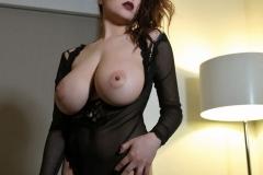 Tessa Fowler Huge Boobs Laced in Corset 018