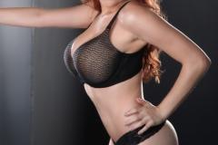 Tessa Fowler Huge Tits Black Lace Lingeie 05