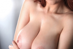 Tessa Fowler Huge Tits Black Lace Lingeie 09