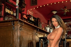 Veronika Zemanova Big Tits Black Bra, Stockings and Heels 012
