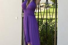 Viola Bailey Tits in Purple Dress 00