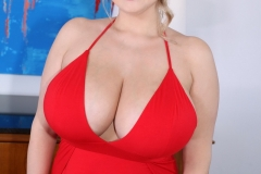 Vivian Blush Huge Breasts in Sexy Red Dress 008