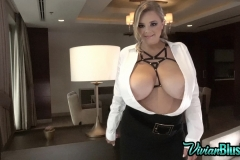 Vivian Blush Huge Tit Secretary in Tight Shirt and Skirt 007