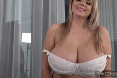 Vivian Blush Huge Tits in Lacy White Bra 006