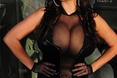 Wendy Fiore Hufe Tits in Black Vinyl Minidress for Actiongirls 001