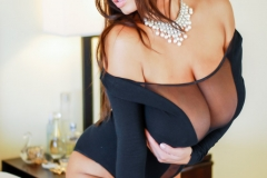 Wendy Fiore Huge Tits Behind Black Mesh 002