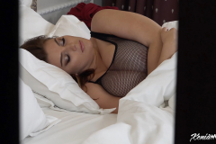 Xenia Wood Huge Boobs Come out at Bed time 007