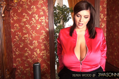 Xenia Wood Huge Boobs Black Black Lacy Bra 003