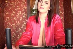 Xenia Wood Huge Boobs Black Black Lacy Bra 004