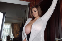 Xenia Wood Huge Tits Barely Covered by Transparent Top 005