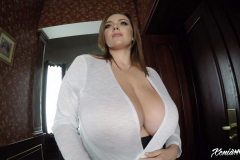 Xenia Wood Huge Tits Barely Covered by Transparent Top 007