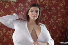 Xenia Wood Huge Tits Barely Covered by Transparent Top 011