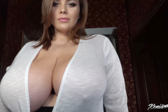 Xenia Wood Huge Tits Barely Covered by Transparent Top 013