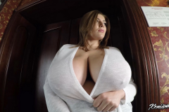 Xenia Wood Huge Tits Barely Covered by Transparent Top 014