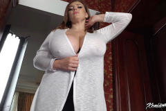 Xenia Wood Huge Tits Barely Covered by Transparent Top 019
