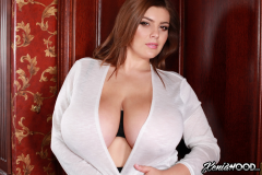 Xenia Wood Huge Tits Barely Covered by Transparent Top 020