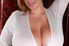 Xenia Wood Huge Tits Barely Covered by Transparent Top 021