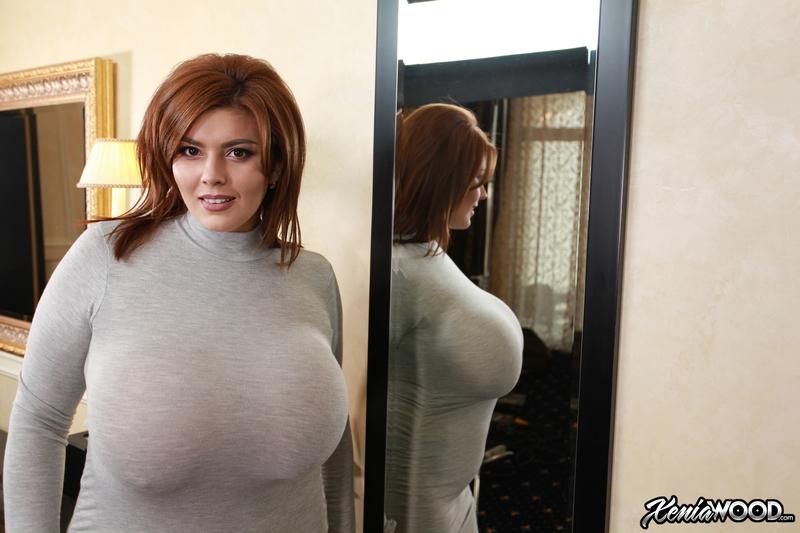 Xenia-Wood-Huge-Tits-in-Grey-Sweater-Dress-004