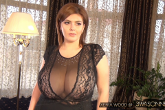 Xenia Wood Massive Boobs in Sheer Blouse 002