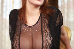 Xenia Wood Massive Boobs in Sheer Blouse 007