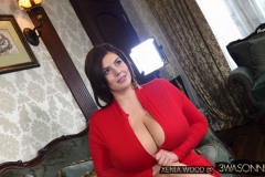 Xenia Wood Massive Tits Red Dress 006