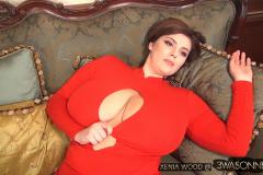Xenia Wood Massive Tits Red Dress 009
