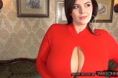 Xenia Wood Massive Tits Red Dress 010