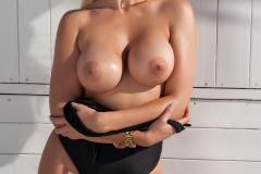 Yasmin Big Tits in a Black Swimsuit 004