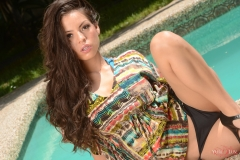 Yurizan Beltran Big Boobs Hanging Out by the Pool 001