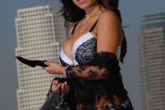 Yurizan Beltran Big Tits Come Out of Her Bra on the Roof 072