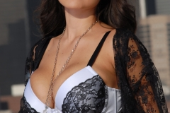 Yurizan Beltran Big Tits Come Out of Her Bra on the Roof 103