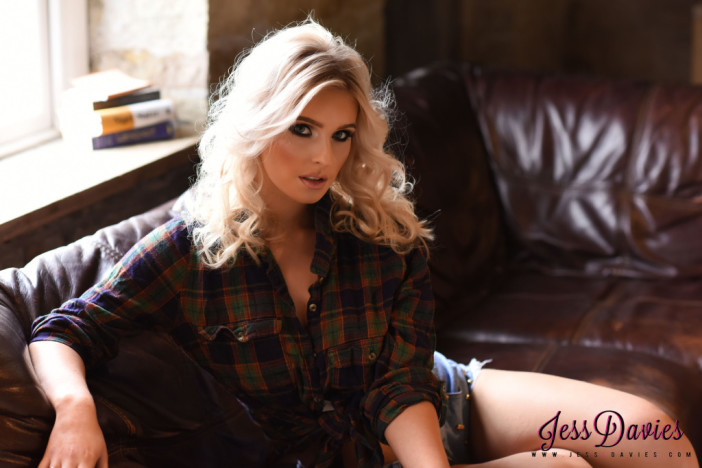Jess Davies Boobs from checked shirt