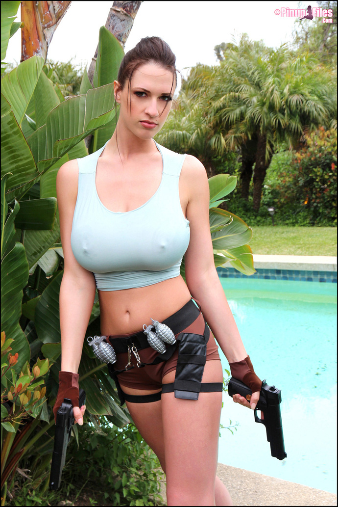 Lara Kendrick boobs as Lara Croft