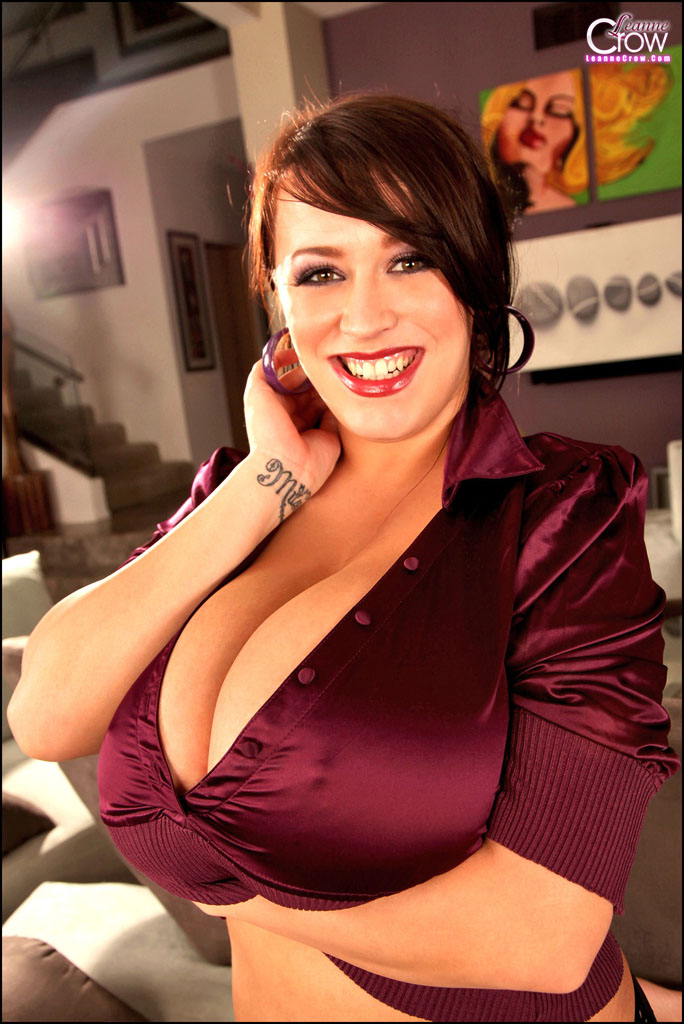 Leanne Crow Boobs Huge in purple top 07
